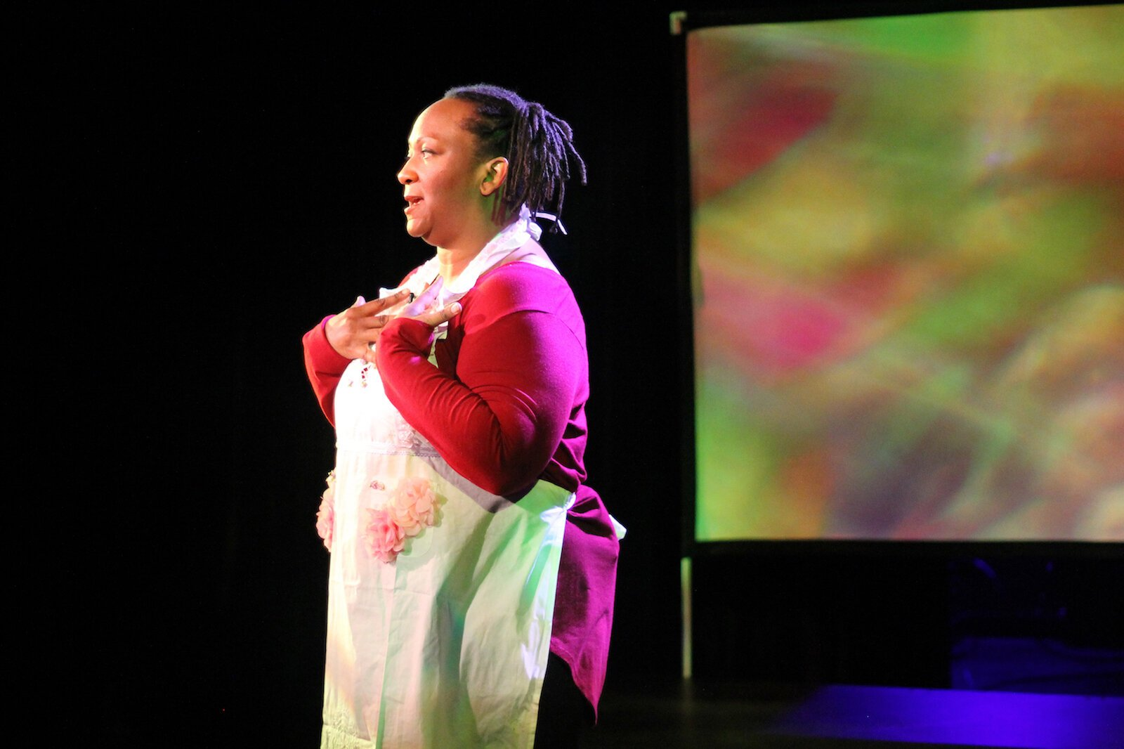 "Farmers Alley produced ""The Conviction of Lady Lorraine,"" a one-woman show written and performed by Western Michigan University theatre professor Dwandra Nickole Lampkin, filmed cinematically and shown as a virtual event late October."