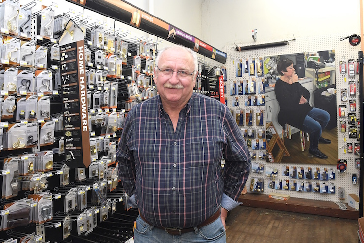 Craig Walters of Lakeview Hardware.