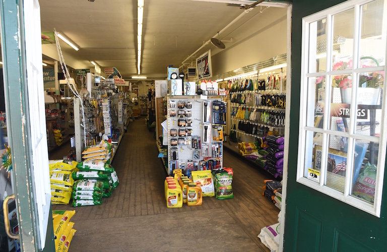 Inside the front door of Lakeview Hardware