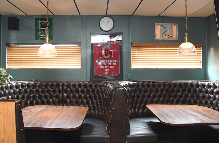 "The Lakeview Lounge is proudly a ""Buckeye"" (Ohio State themed) bar"