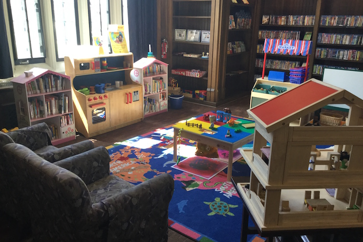Children learn as they play. So the library in Edison offers a space for them.