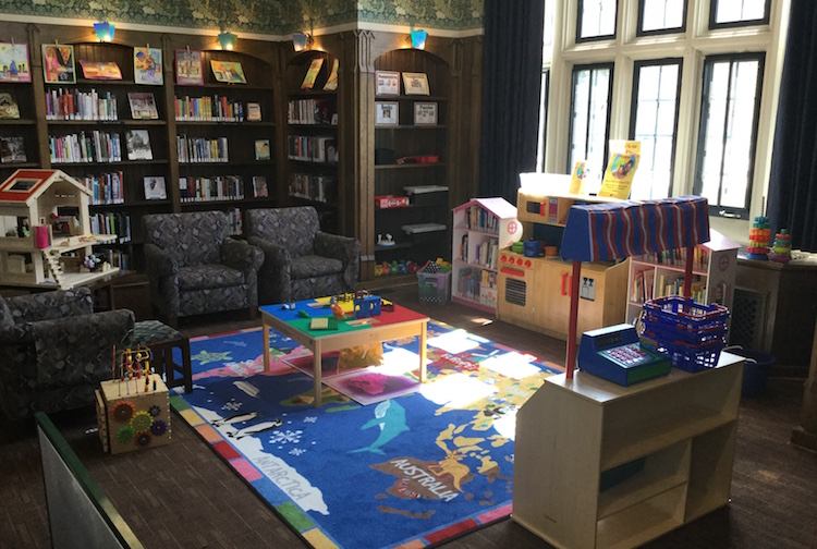 A newly arranged room in the Kalamazoo Public Library branch in Edison offers a place for children to play.