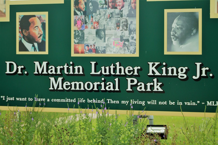 Kalamaoo Junior Girls created the collage seen in the memorial for Dr. Martin Luther King Jr.