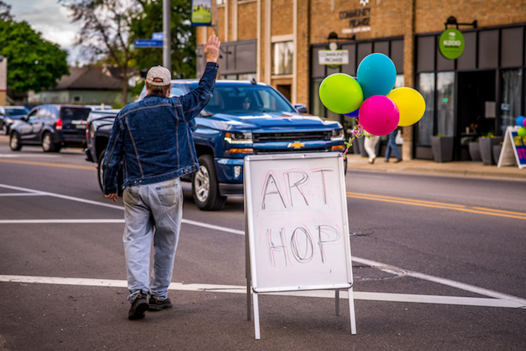 Washinton Square has been an Art Hop satellite for the past three years. Photo by Fran Dwight