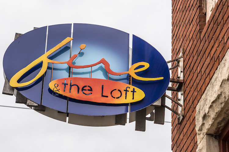 The iconic sign at Fire. Photo by Fran Dwight