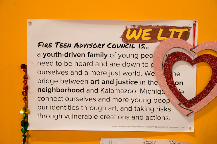 About the Teen Advisory Council. Photo by Fran Dwight