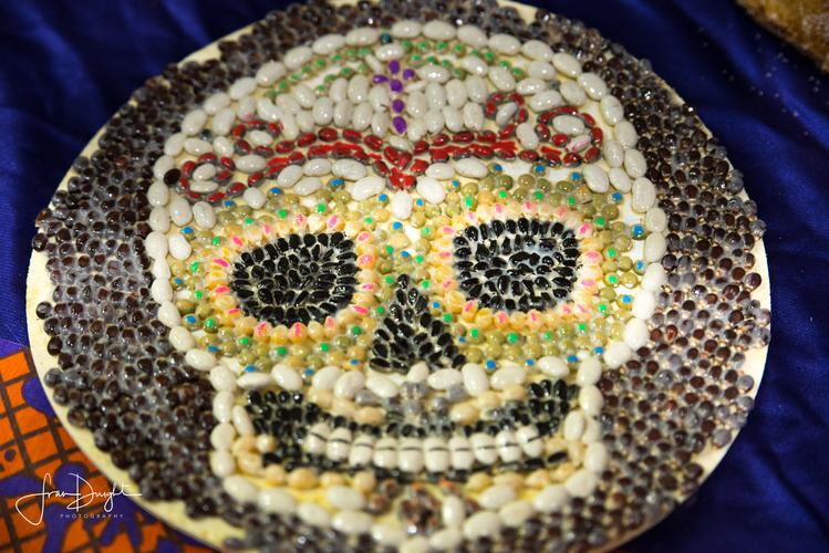 Images of skulls abound during the Dia de los Muertos celebration. Photo by Fran Dwight