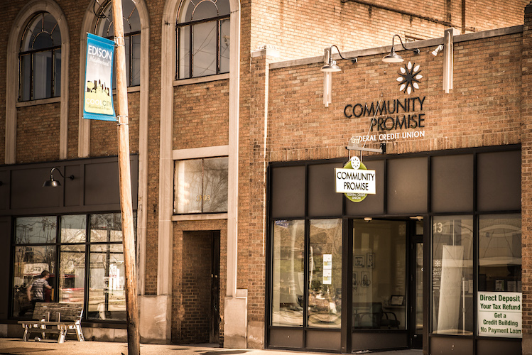 Community Credit Union offers an needed banking opportunity for the neighborhood. Photo by Fran Dwight