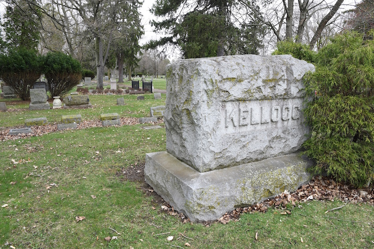 The gravesite of John Harvey Kellogg