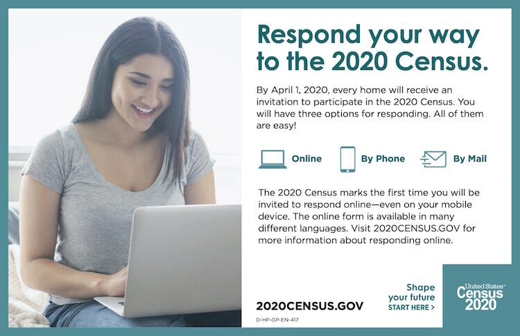 From the Website explaining the 2020 Census