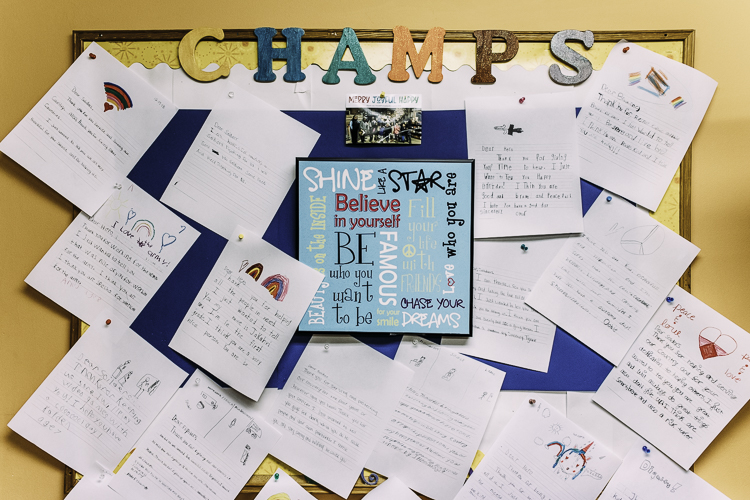 CHAMPS youth participate in lots of activities, including writing these letters to the military.
