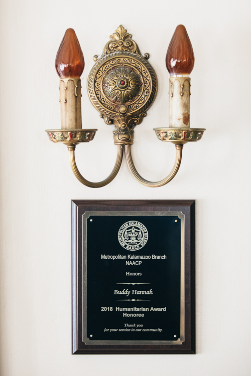 Buddy Hannah's awards are numerous and include his most recent, the 2018 Metropolitan Branch NAACP Humanitarian Award.