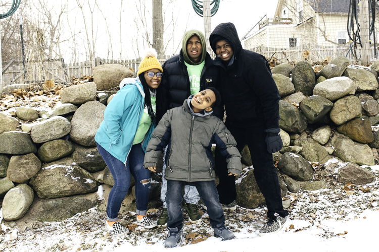 Members of the Youth Advisory Team and Peace House youth enjoy the outdoors during all seasons.