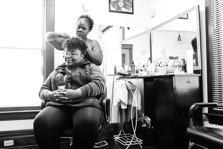 A calm, open and organized salon greets customers at Slayed Cartel Beauty Bar, which operator Solomon Carpenter hopes is a positive, supportive place for clients.