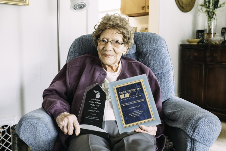 Gwen Tulk was recognized for her committed volunteering to Meals on Wheels and to help ensure children were vaccinated.