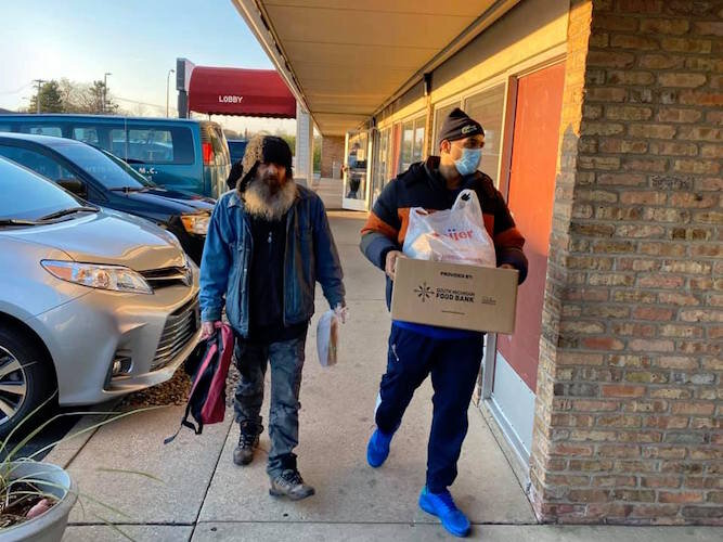 RISE began a weekly distribution of healthy food that began on April 17