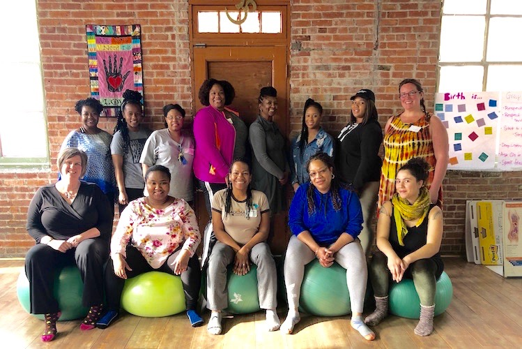 A new doula team. Doula training at Rootead includes how to advocate for women of color.