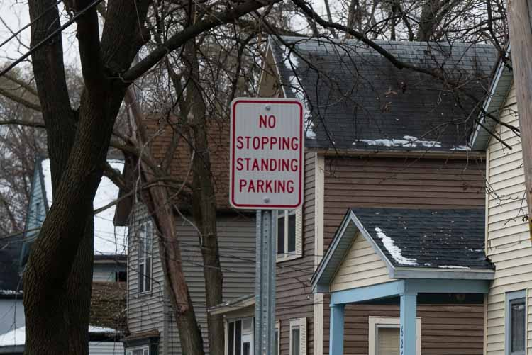 On many streets in the Northside neighborhood No Stopping, Standing, or Parking signs mean regular contact with KDPS officers.
