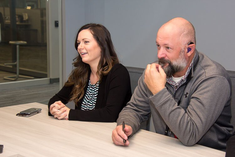 Melinda Holliday Mental health professional and Kevin Kellums are part of the team at the Fusion Center.