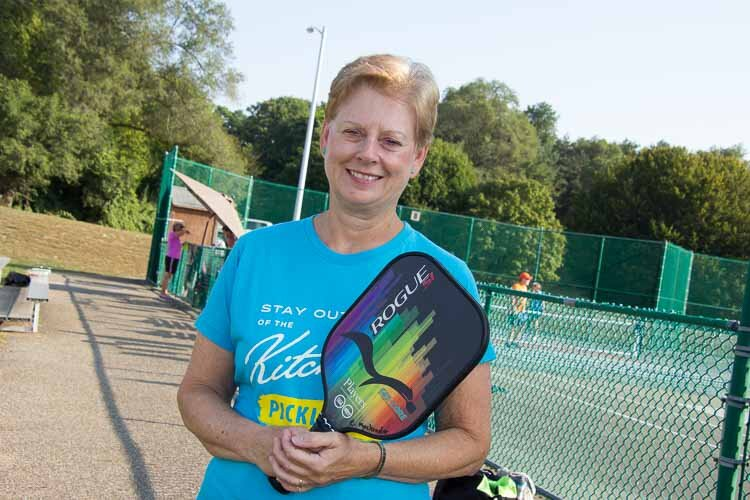 Cheryl MacKinder, president and ambassador for the Battle Creek Pickleball Club.