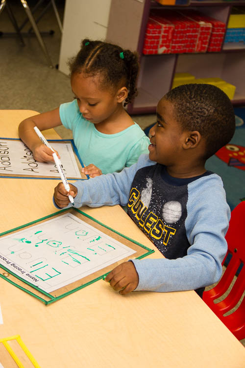 High-quality education in the early years helps give these 3 year olds a beneficial start.