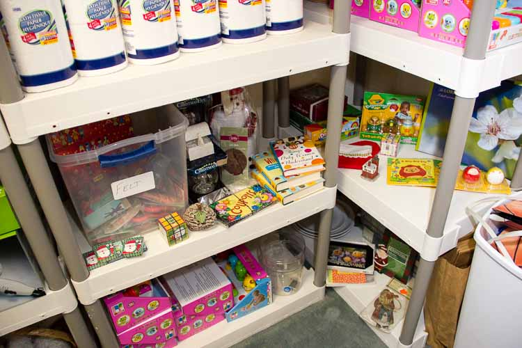 From paper towels to books for the kids, the Woman's Co-op store has many items a family needs.
