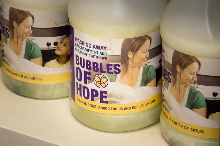 "Bubbles of Hope is a fitting product to find on the shelves of the co-op's ""store."" Co-op members make it themselves."
