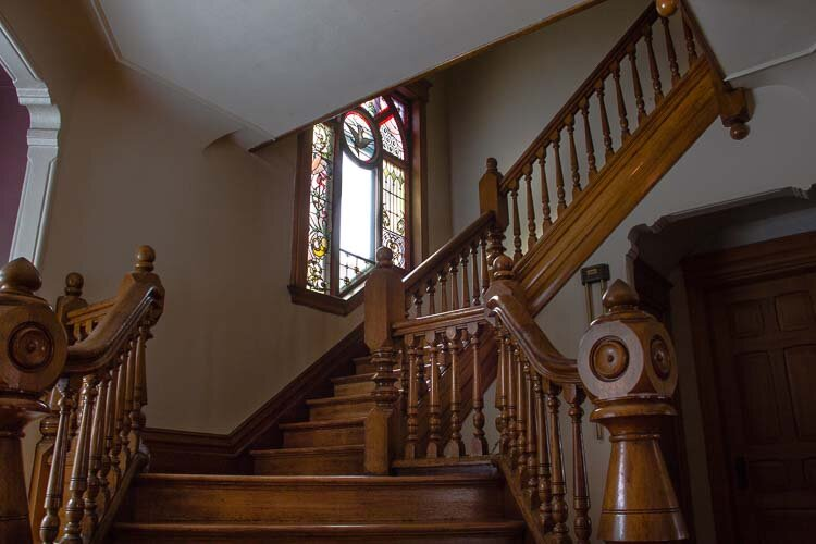 The home built in 1895 has many historical details many of which were lovingly maintained.