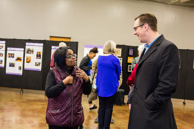 Residents and community leaders, like State Representative Jon Hoadley, attended the Northside Art Hop.