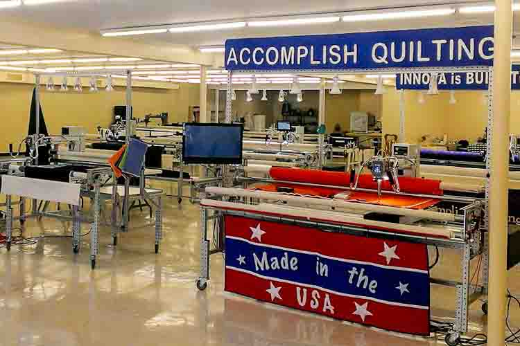 At the new location for Accomplish Quilting
