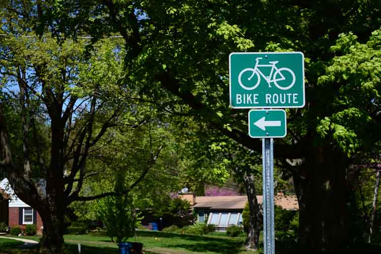 "The ""Westwood Wiggle"" routes bikes along quiet neighborhood streets north of West Main/M-43."