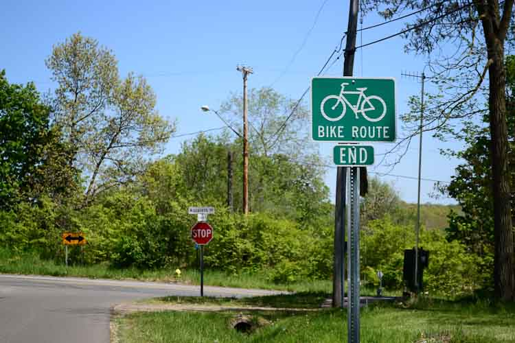 The Eastwood bike boulevard routes bicyclists through quiet streets away from East Main.