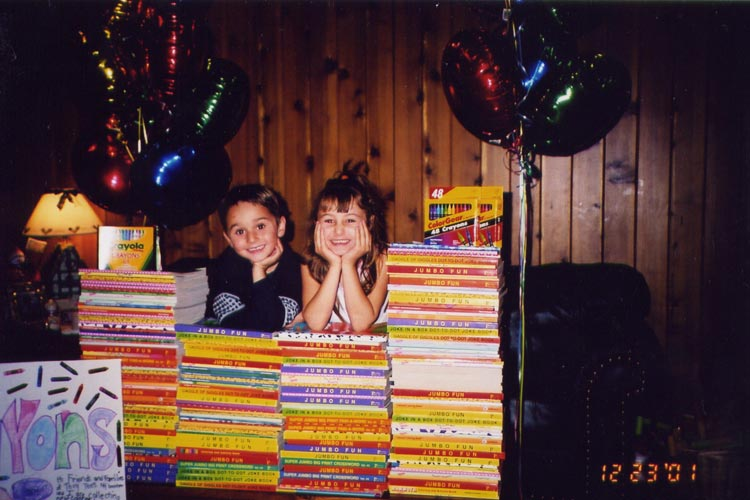 Matt and Emily in the early days of Crayons4Kids