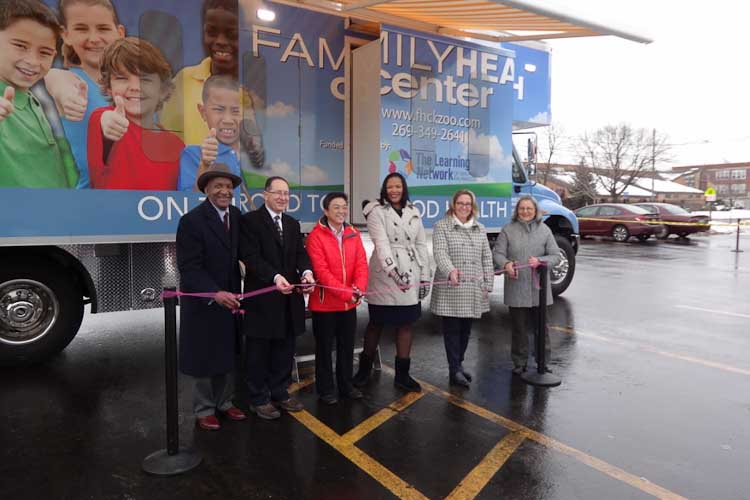 Ribbon cutting for the Family Health Center Mobile Clinic