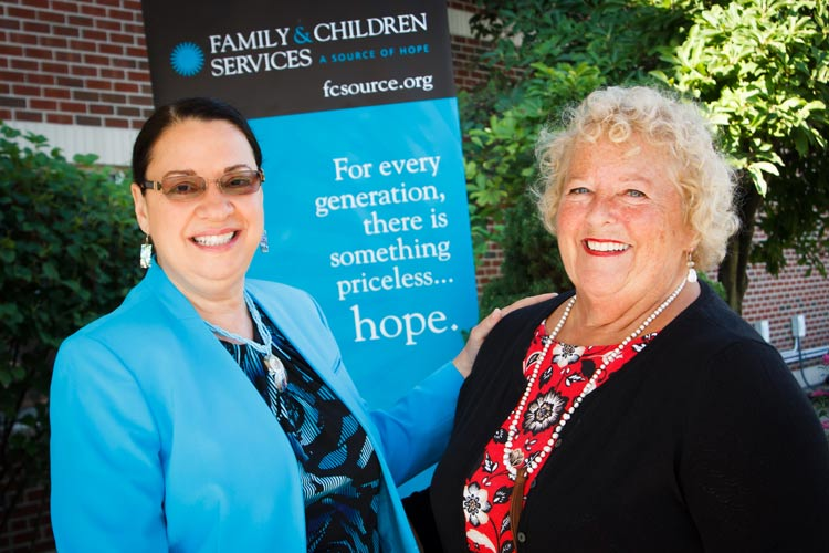 Sherry and Rosemary together at Family and Children Services