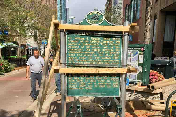 At Parks's urging a marker was moved to its proper place downtown