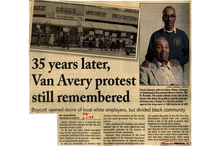 Jacob Pinney-Johnson's father helped start the Van Avery protest