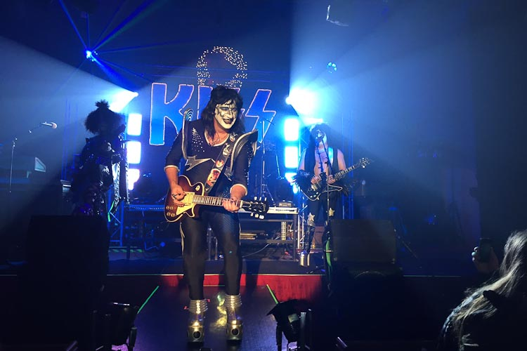 A KISS cover band rocks out during New Year's Fest in Kalamazoo