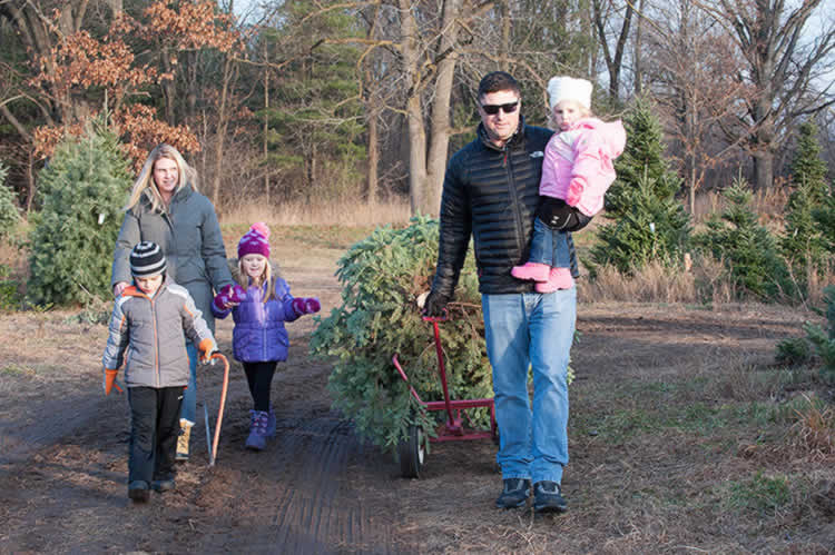 Making family memories by picking out a Christmas tree together. Photo by Dave Trumpie