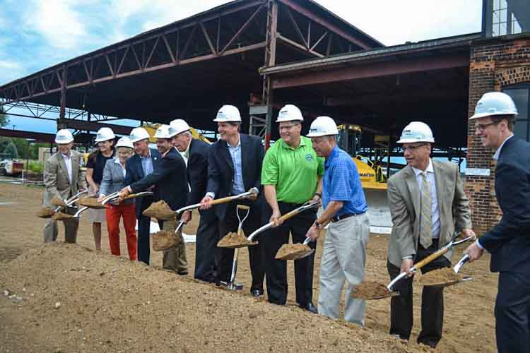 Breaking ground at the redevelopment of The Foundry
