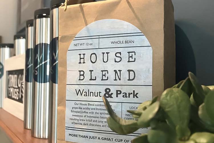 Coffee for sale at Walnut and Park