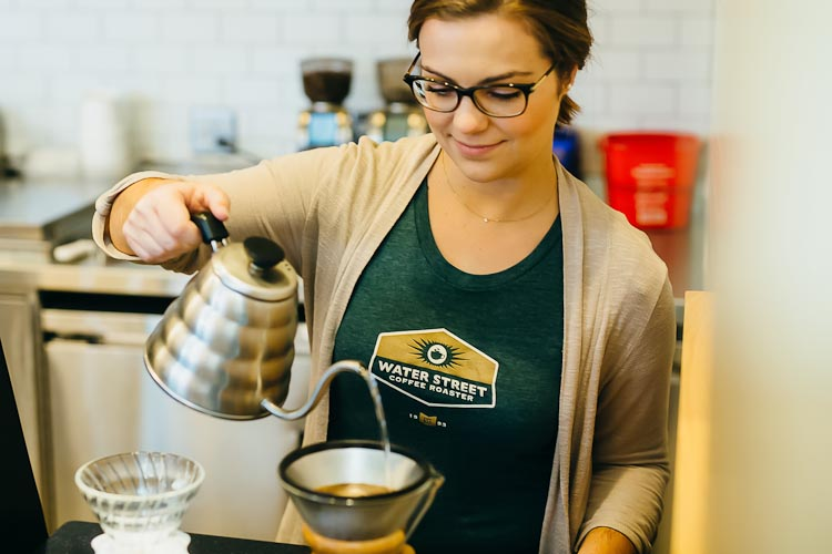 Water Street Joint's slow pouring coffee at its Portage location