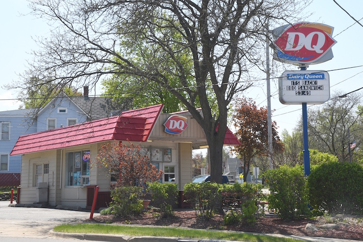 The Dairy Queen in Battle Creek, located at the intersection of Main and Cliff streets.