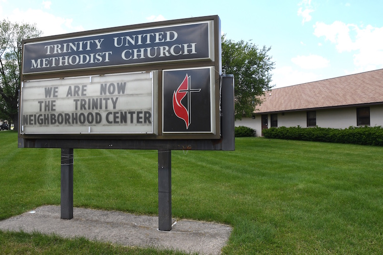 Trinity United Methodist Church became Trinity Neighborhood Center in 2018.