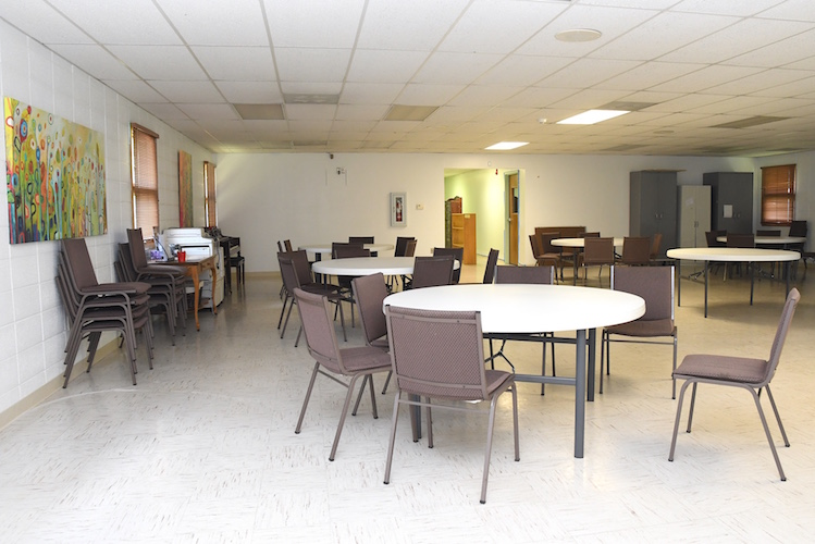 Large meeting room and eating area at the Trinity Neighborhood Center