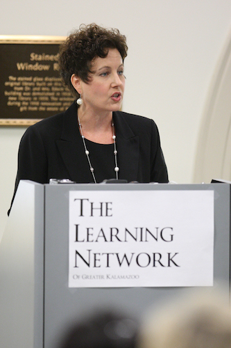 In 2011, Sheri Welsh, past chairwoman of the Kalamazoo Regional Chamber of Commerce spoke at the launch of The Learning Network