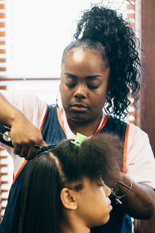 No. 2 Shadia Crenshaw of Slayed Cartel Beauty Bar is one of the first to rent space at the new business.