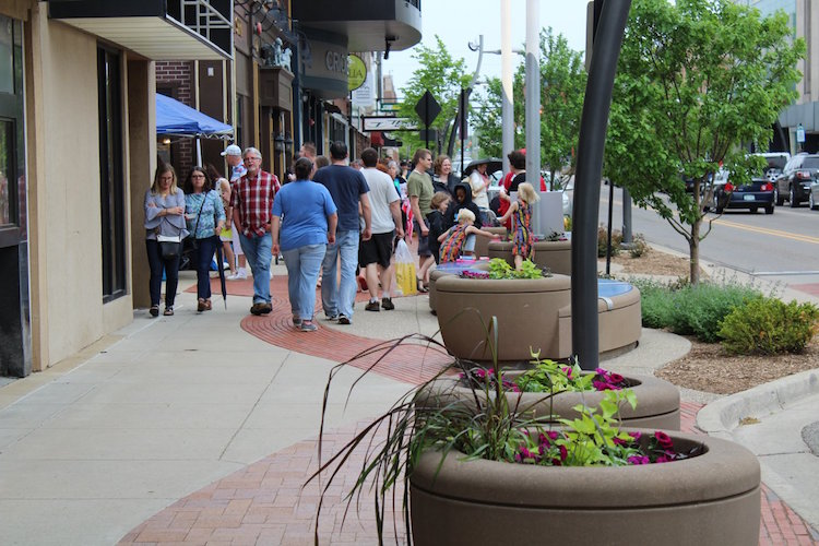 Spring into the Arts patrons during the 2018 event.