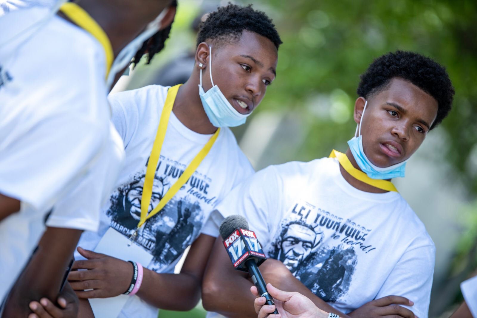 "Youth were encouraged to ""Let Your Voice Be Heard"" at the rally and march in Kalamazoo."