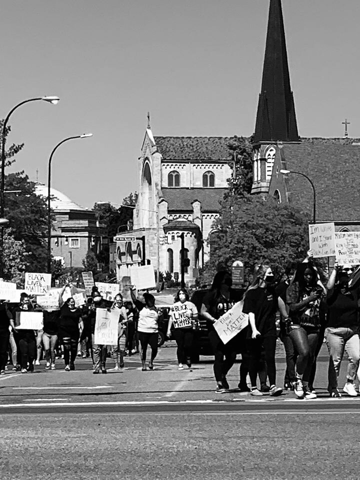 Black Lives Matter supporters march in Battle Creek.